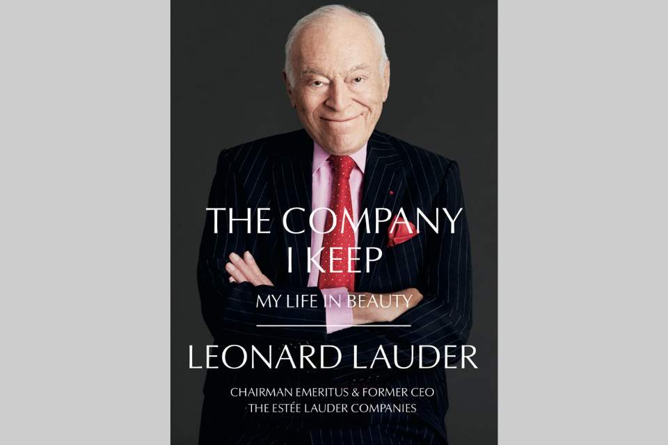 "Leonard Lauder on the cover of ""Life in Beauty"""