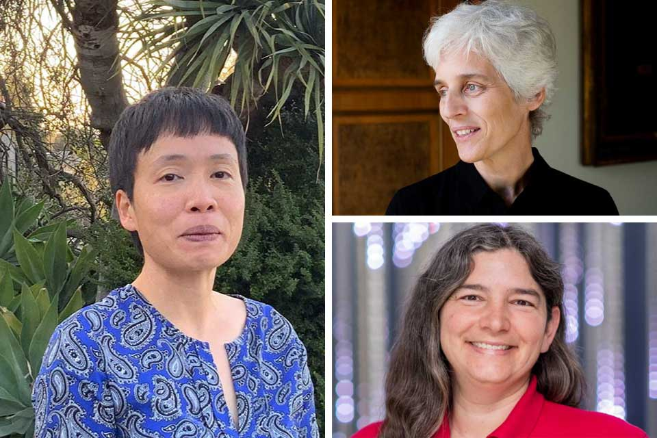 Photo collage of Ming Lee Tang, Ulrike Tillmann and Rachel Brachman